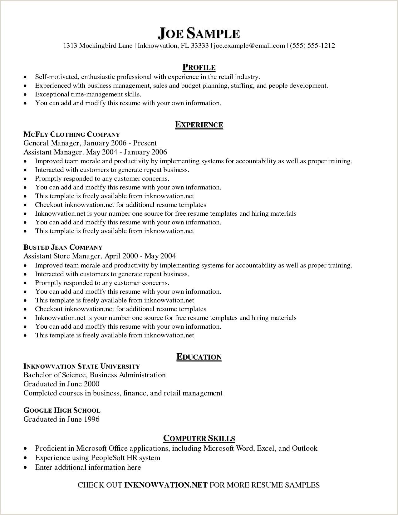 Fresher Resume Format For Commerce Graduate Free Sample Resume Examples Tutlin Stech Mla Format