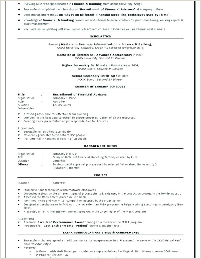 Fresher Resume format for Commerce Graduate Sample Resume format Download Free Template Word Best for