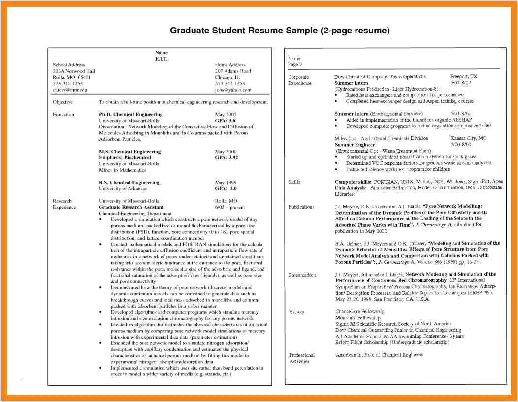 Fresher Resume format for Computer Engineers 55 Simple Resume format for Freshers Doc