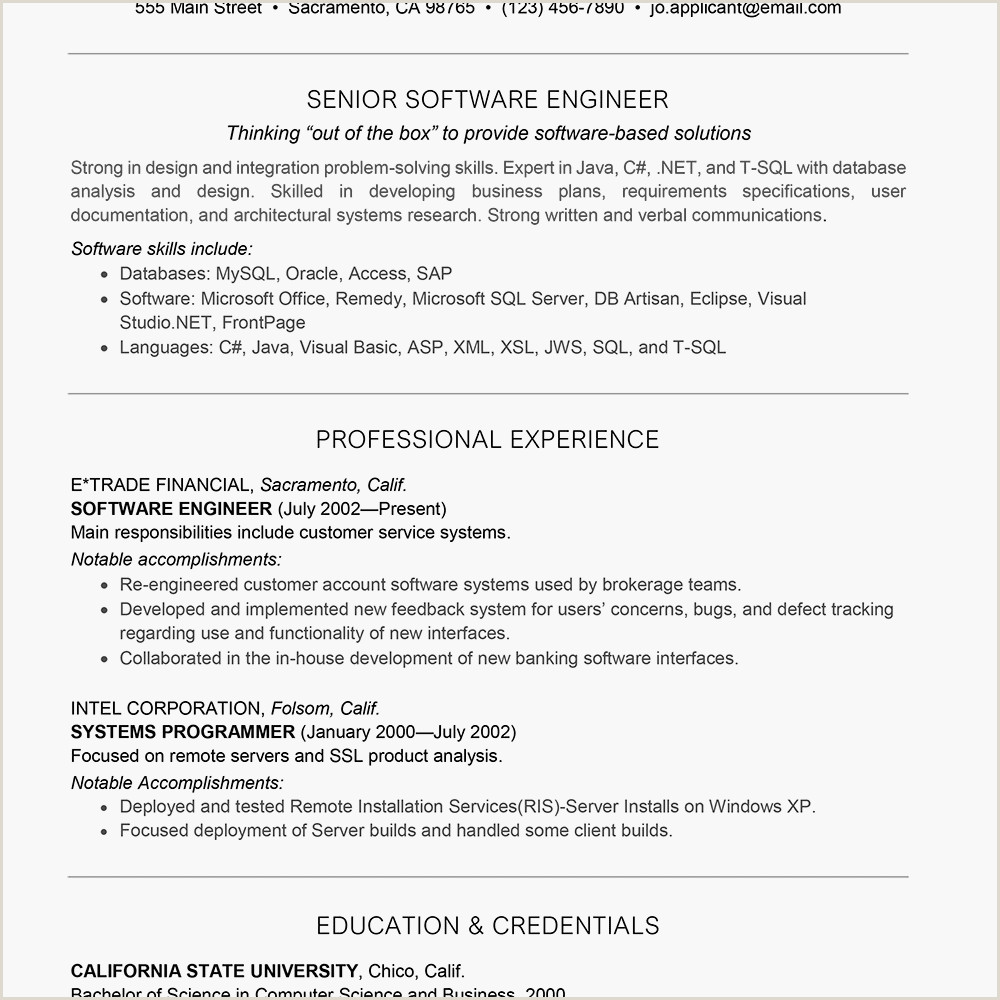 Fresher Resume format for Computer Engineers software Engineer Resume Sample