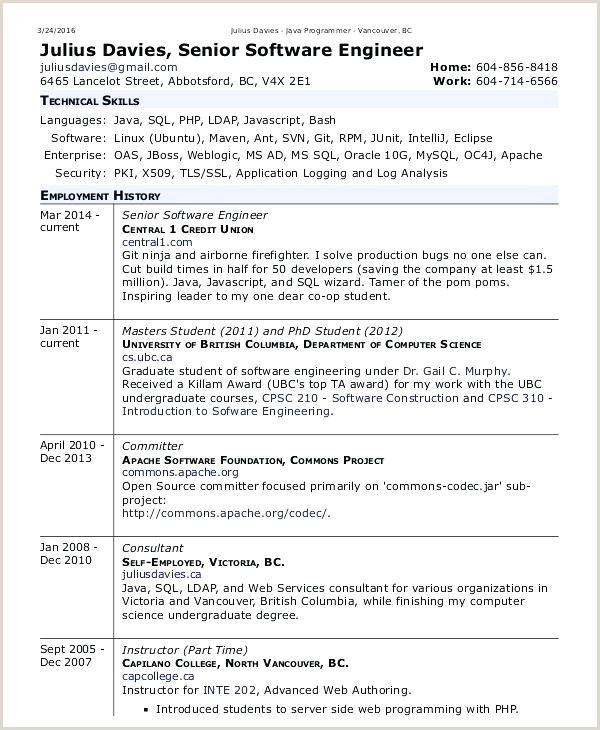 Fresher Resume format for Cse Fresher Resume Sample for software Engineer – Newskeyfo