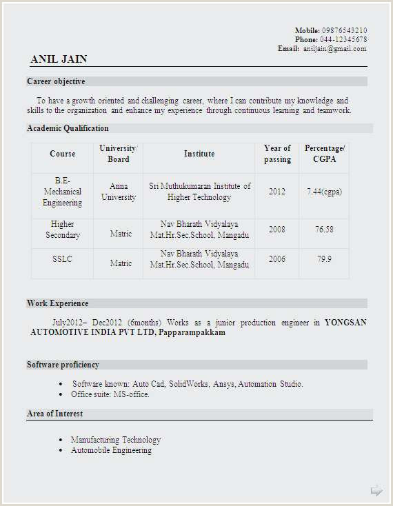 Photo of Fresher Resume format for Engineers.pdf