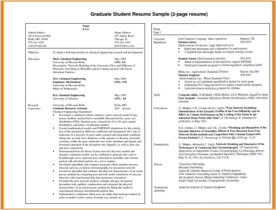 Fresher Resume Format For Graduate Cv Format For Job Pdf Free Download Schön Resume Format For