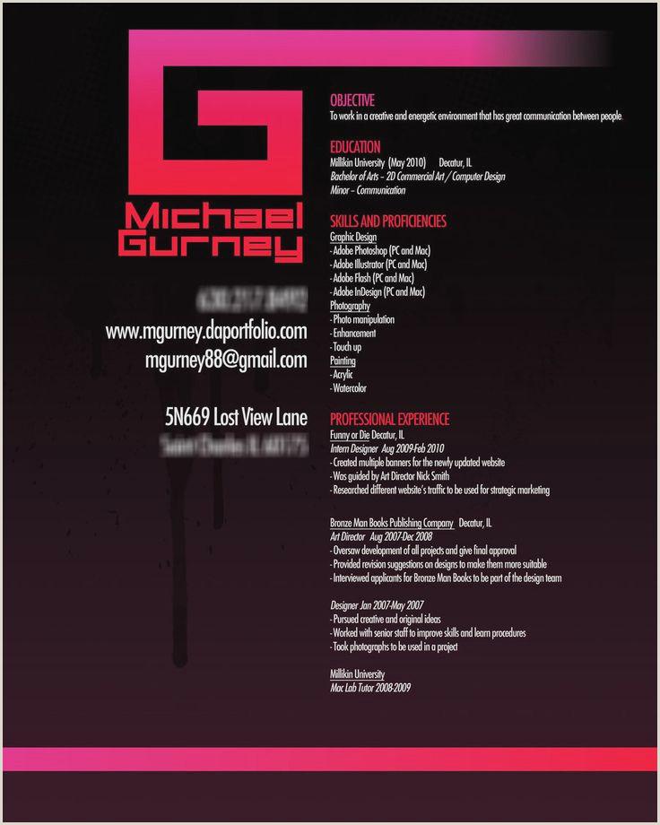 Fresher Resume Format For Graphic Designer Beautiful Sample Resume For Graphic Designer Fresher