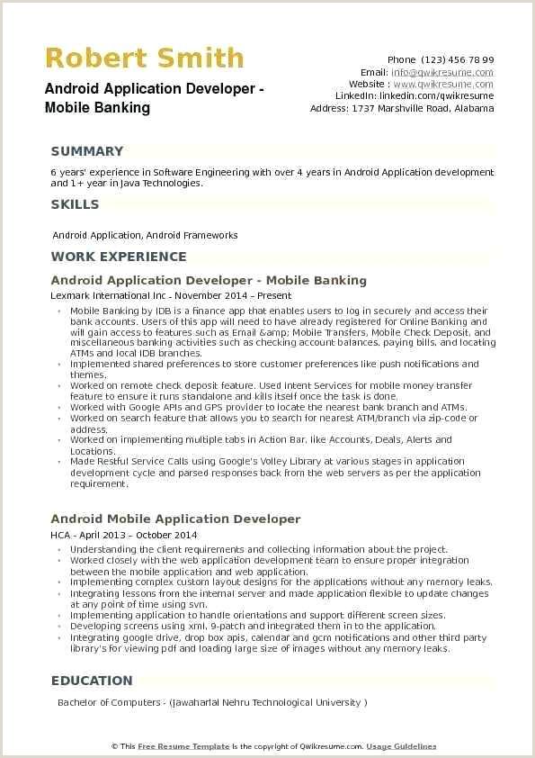 Fresher Resume format for Java Developer Resume Template