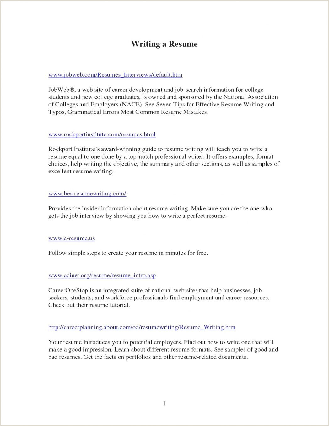 Fresher Resume format for Job Sample E Page Professional 16 E Examples Good Great