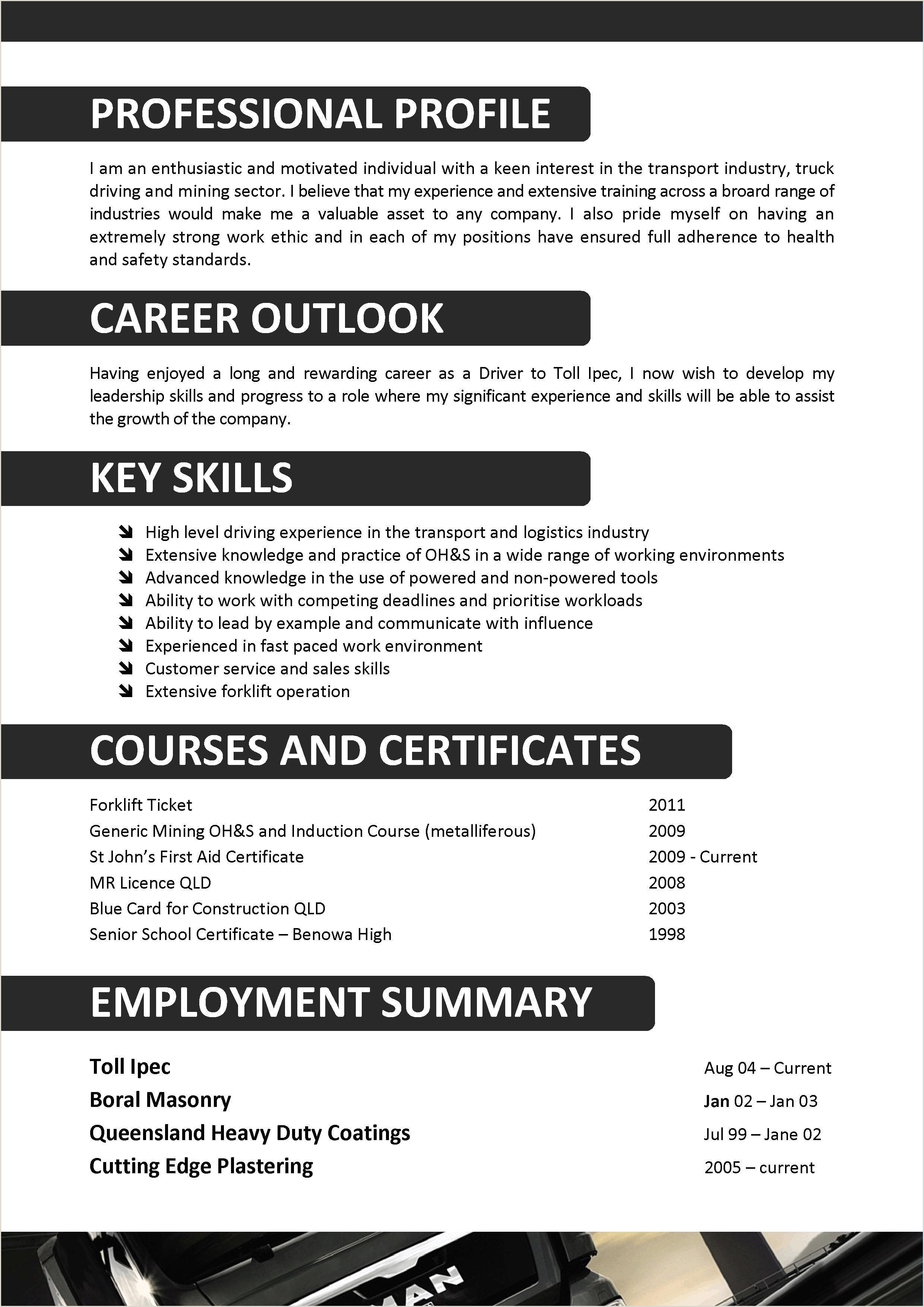 Fresher Resume Format For Logistics 11 Construction Resume Examples And Samples