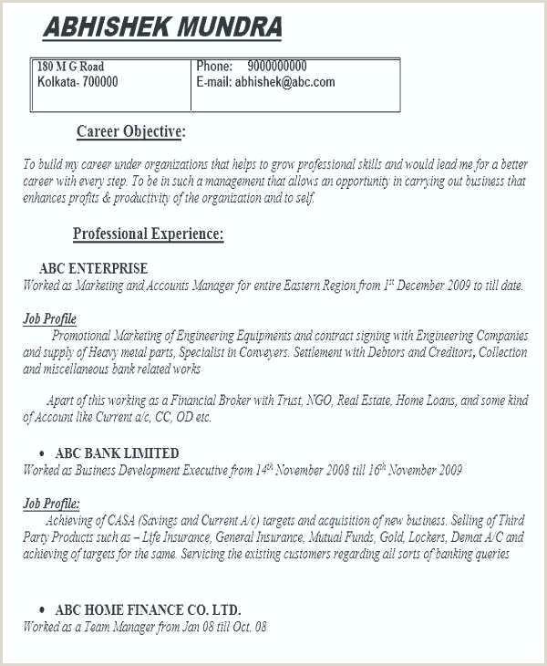 Fresher Resume Format For Logistics Resume Template Career Objective Sample Career Objective