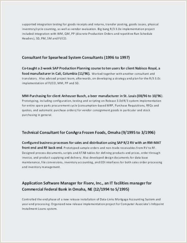Fresher Resume Format For Logistics Sap Resume Format For Freshers Beautiful New Sap Pp Fresher