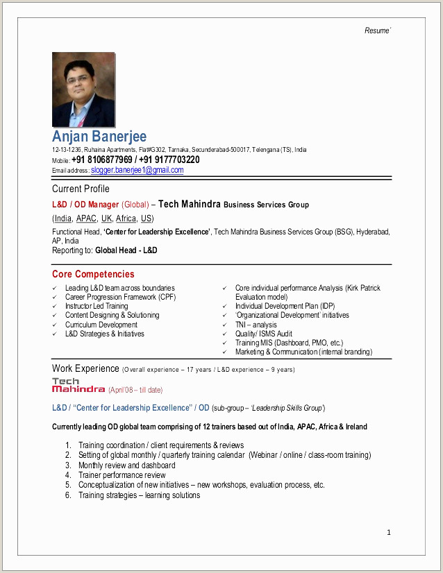 Fresher Resume format for Manual Testing Classy Qa Manual Tester Resume Resume Design