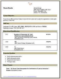 Fresher Resume Format For Mechanical Engineers 13 Best Resume Images