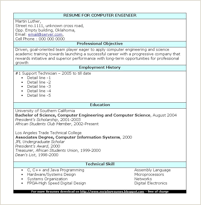 Fresher Resume Format For Networking Java Fresher Resume Free Download Elegant Best Resume Format