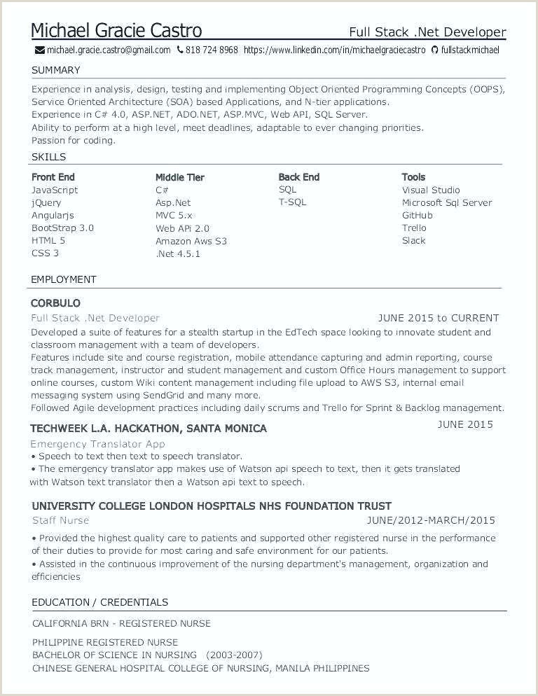 Fresher Resume format for Nurses Trainee Sample Resume – Ruseeds