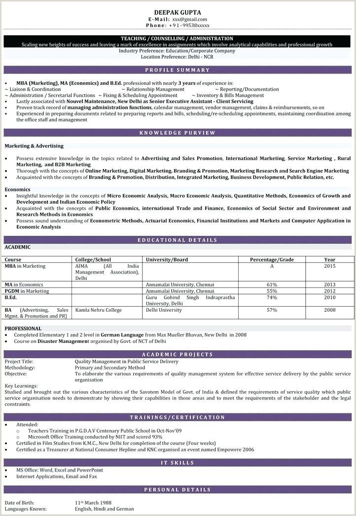 Fresher Resume Format For School Teacher Resume Teaching Job – Johnsimpson