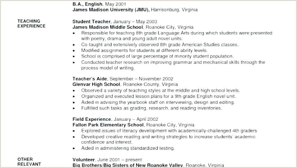 Fresher Resume Format For School Teacher Resume Template Examples