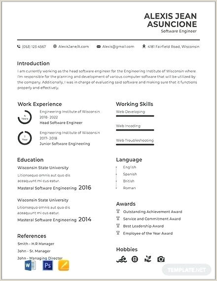 Fresher Resume format for software Engineers It Resume Template Download It Resume format for Freshers