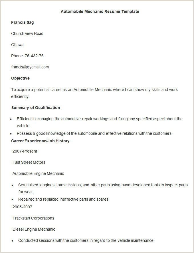 Fresher Resume Format For Store Microsoft Word Resume Template 49 Free Samples Examples