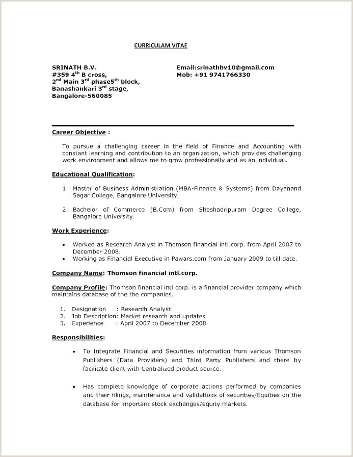 Fresher Resume format for System Administrator Sample Resume format for Mba Finance Freshers