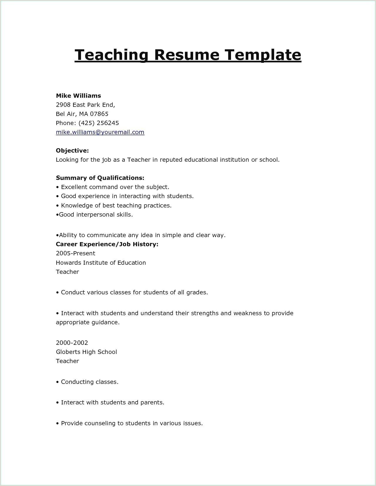 Fresher Resume format for Teacher Easy Resume Samples Best Samples Resumes for Freshers