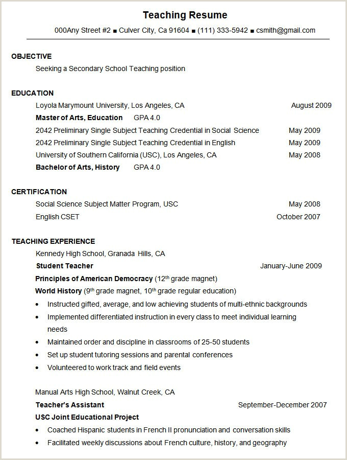 Fresher Resume Format For Teaching 47 Best Resume Formats Pdf Doc