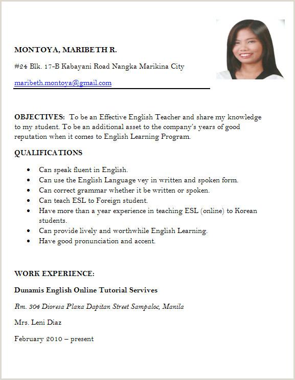 Fresher Resume Format For Teaching Job Resume Format For Freshers Job Application Letter Sample For