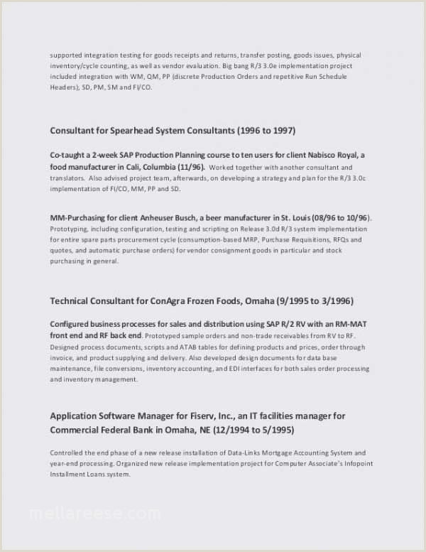 Fresher Resume format for Testing Sample Resume for Sap Pp New Sap Pp Fresher Resume