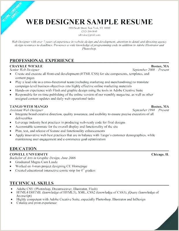 Fresher Resume format for Ui Developer Web Developer Resume Template Download Free Specialization C