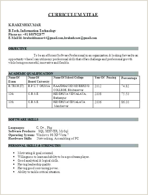 Fresher Resume Format In Pdf Awesome Format Resume For Fresher Engineers Pdf