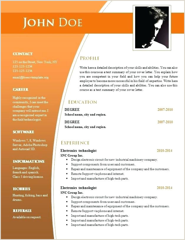 Fresher Resume format In Word Download Simple Resume format Free Download In Ms Word Sample Resumes