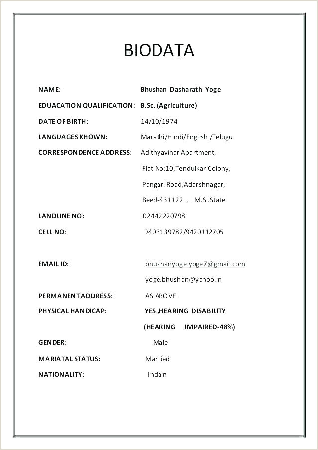 Fresher Resume format In Word Download Simple Resume Template