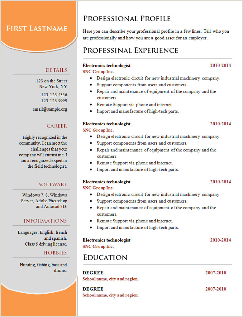Fresher Resume Format In Word File Download 70 Basic Resume Templates Pdf Doc Psd