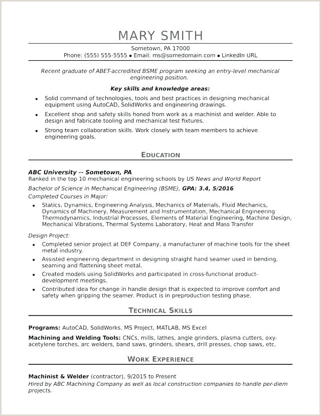 Fresher Resume format In Word Free Download Recent Grad Resume Template