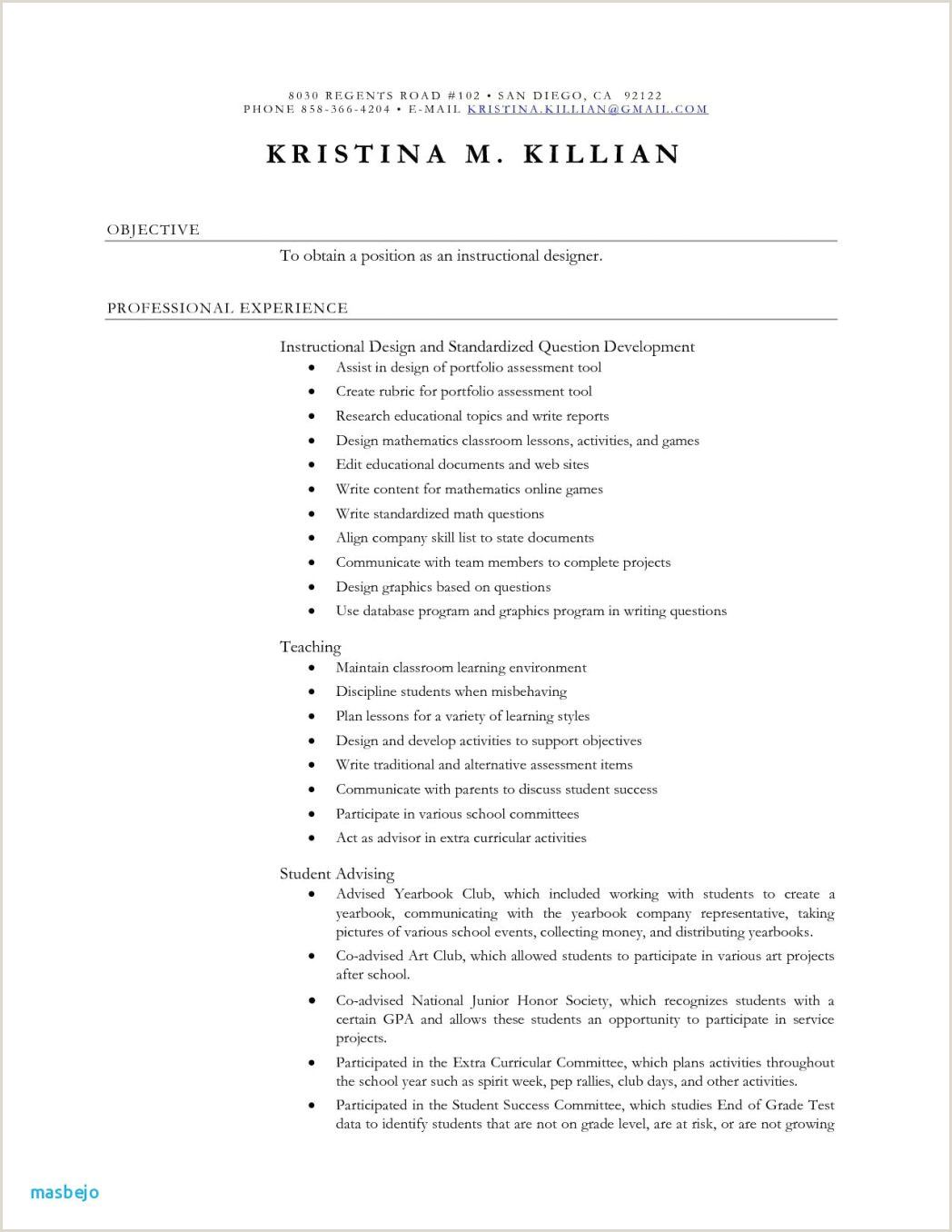 Fresher Resume format It Professional Teaching Examples Best Daycare Sample Example Fresh 0d