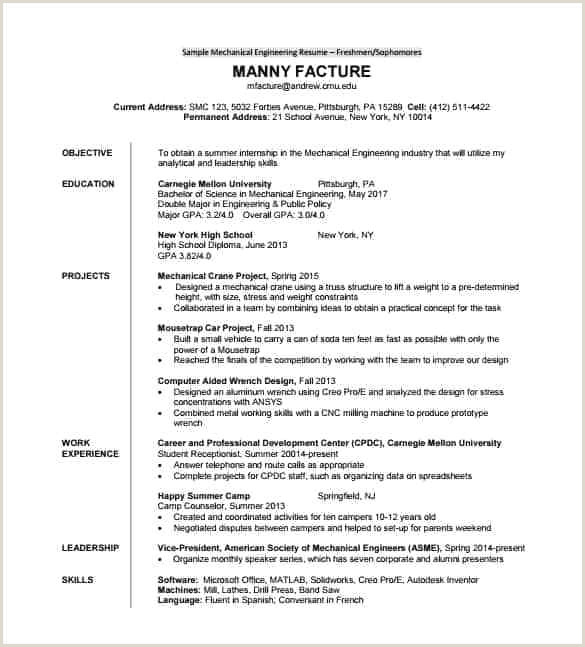 Fresher Resume format Mechanical Engineer Pdf Resume Template Pdf Fresh Blank Resume Template Graphs