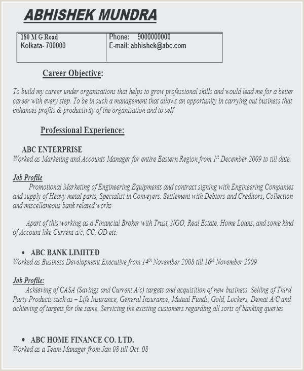 Fresher Resume Format Naukri Java Resume Sample