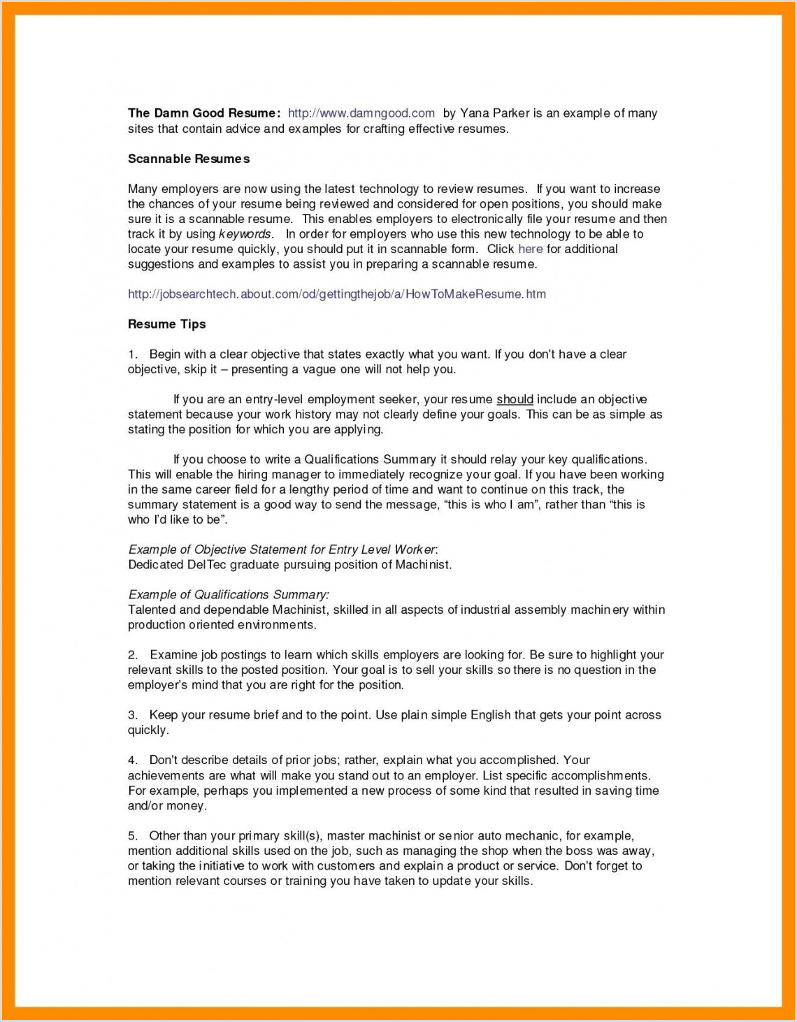 Fresher Resume Format Objective Resume For Job Objective