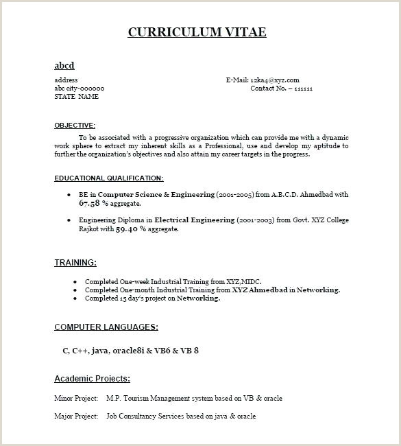 Fresher Resume format Pdf File Fresher Resume Templates Doc Resume Download Free for