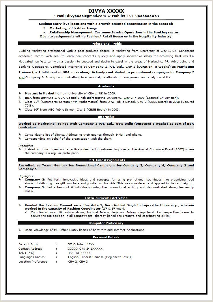 Fresher Resume format Pdf India M Tech Resume format Resume Templates