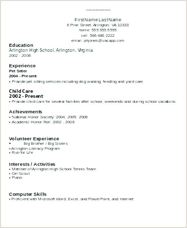 Fresher Resume format Pdf India Simple Resume format for Freshers – Wikirian