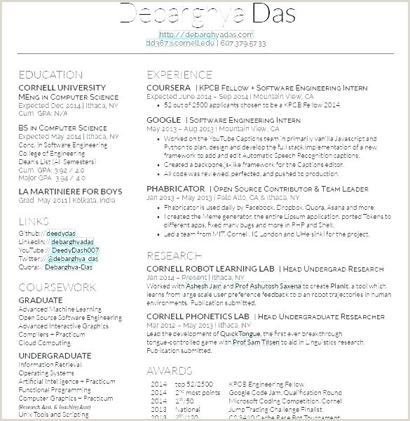 Fresher Resume format Quora Latex Resume Template Engineer – theredteadetox