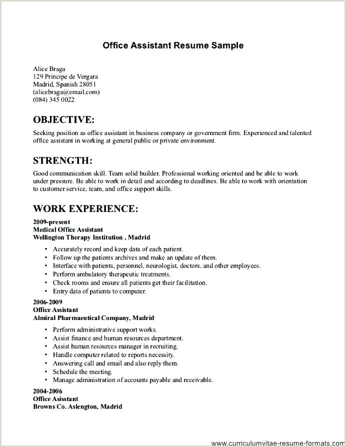 Fresher Resume format Simple Good Resume Templates for Freshers – Hayatussahabah