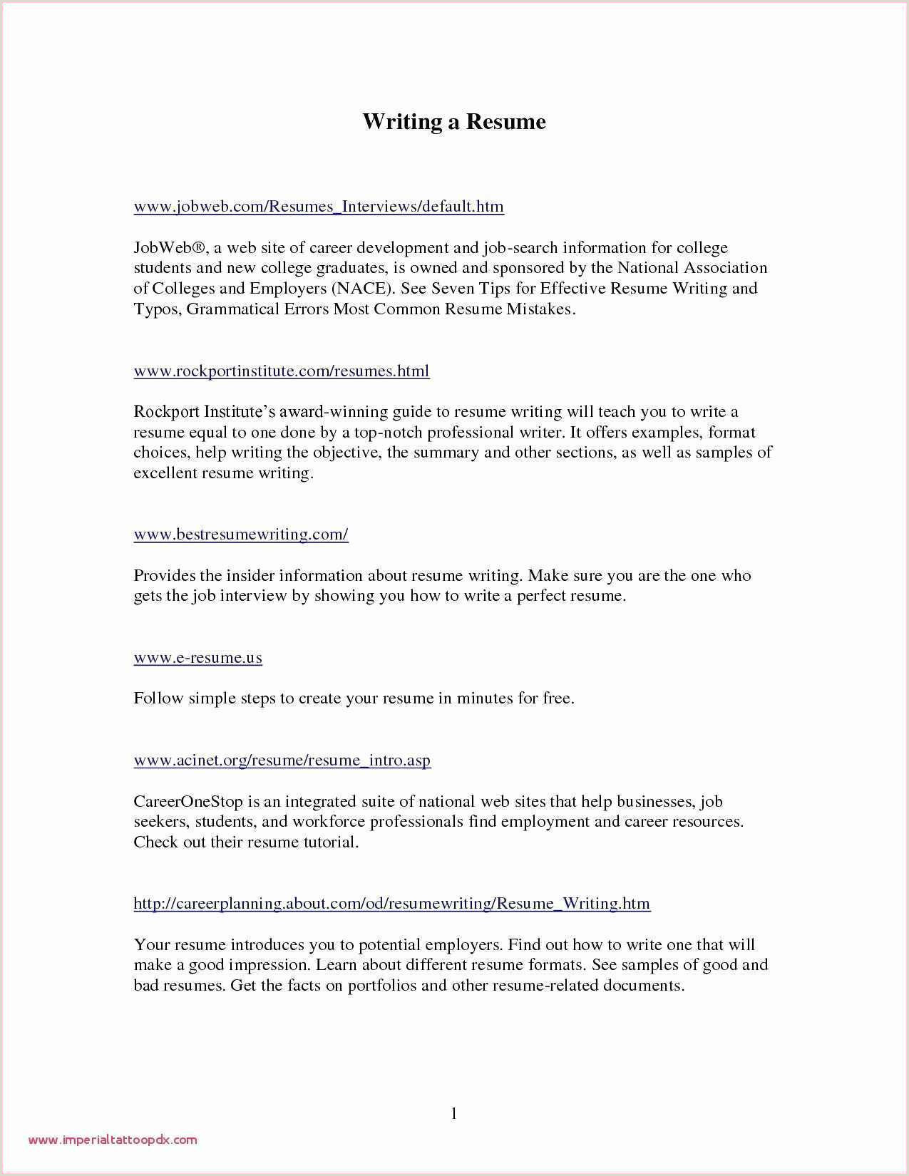 Fresher Resume format Simple north American Resume format Sample Awesome Cv format