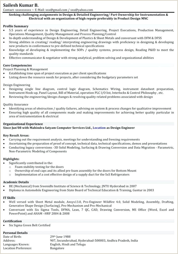 Fresher Resume Format With Project Details Fresher Resume Sample For Software Engineer – Newskeyfo