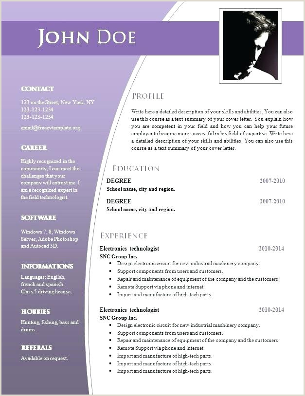Fresher Resume Format Word Doc Resume Template Word