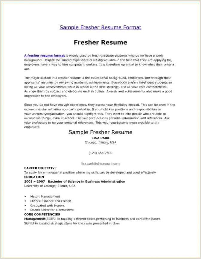 Fresher Resume Latest format Resume Templates Manificent Decoration Website Impressive