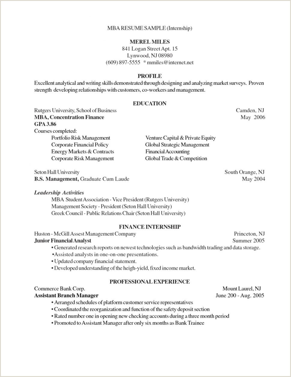 Fresher Resume Mail format Resume Mba Sample Unique Finance for Freshers Luxury Email