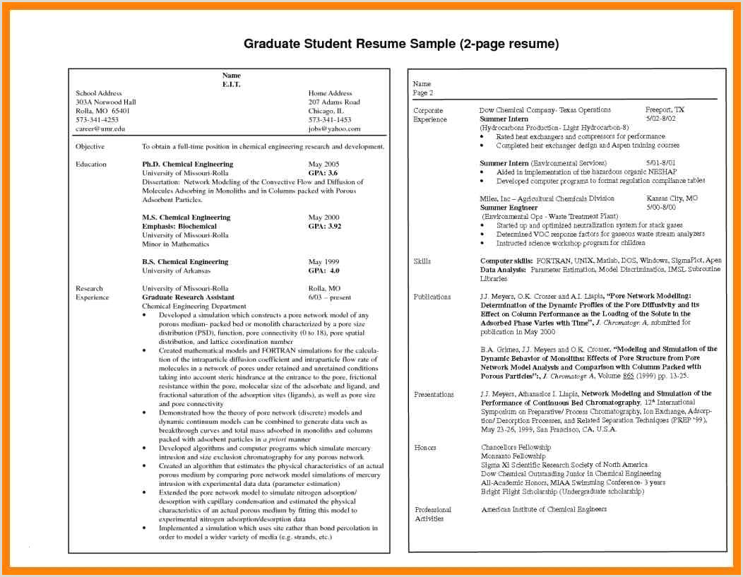 Fresher Resume Sample Doc Us Resume format for Freshers Awesome Us Resume format for