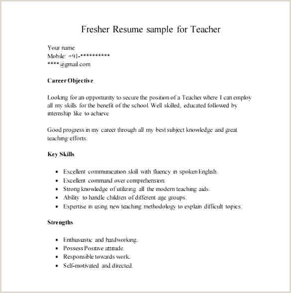 Fresher Resume Sample Download Doc Cv Template Pdf
