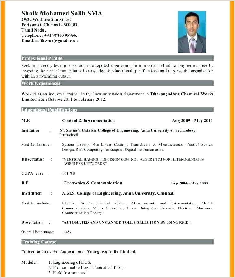 Fresher Resume Sample In Doc Cv Template Pdf