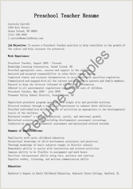 Fresher Teacher Cv format Pdf Sample Resume for Teacher Job and Teaching with Experience